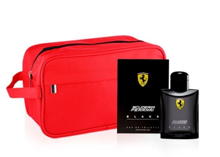 FERRARI SCUDERIA BLACK 40ML EDT SPRAY +POCHETTE  CONFEZIONE