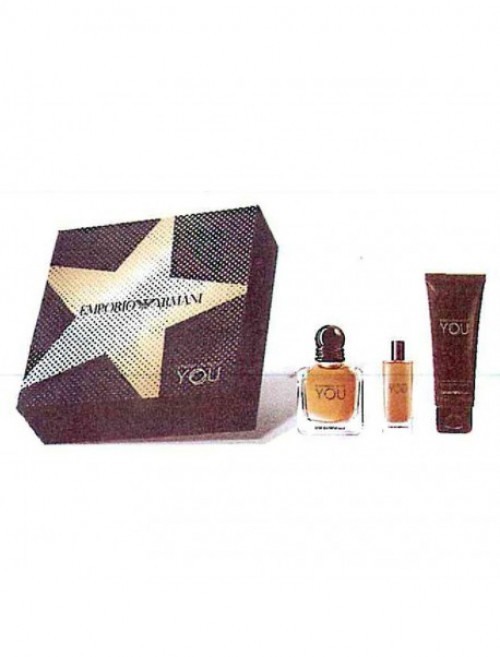 GIORGIO ARMANI EMPORIO STRONGER WITH YOU EDT 50+15ML+ 75ML GELCA